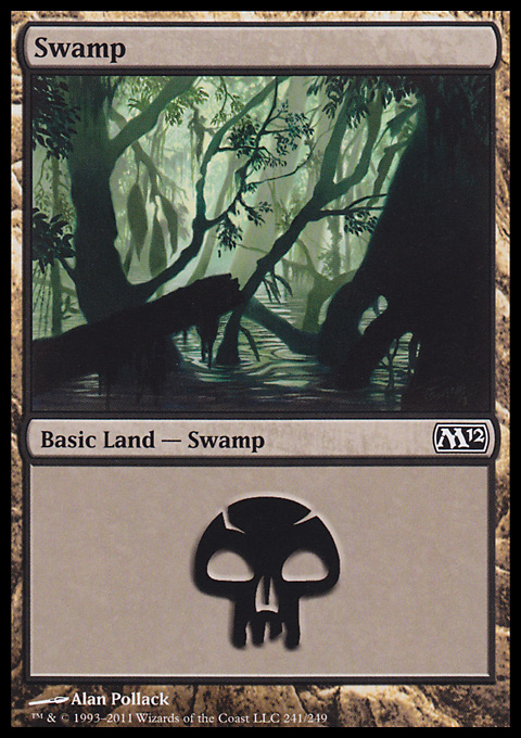 Swamp (241)  card from Magic 2012