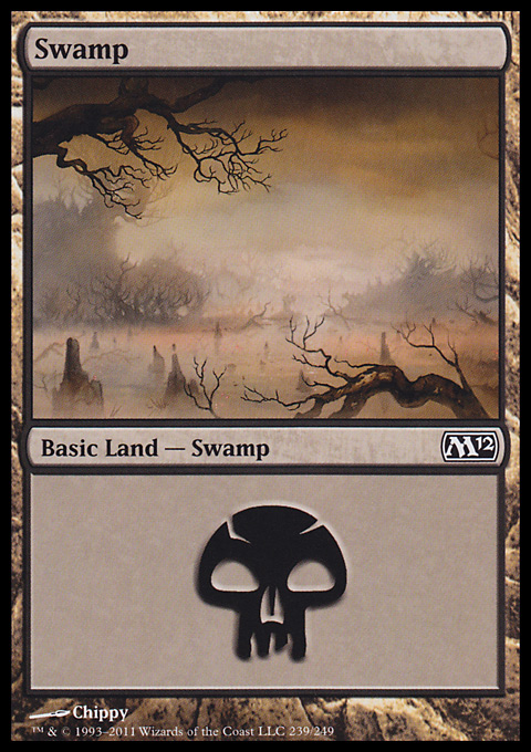 Swamp (239)  card from Magic 2012