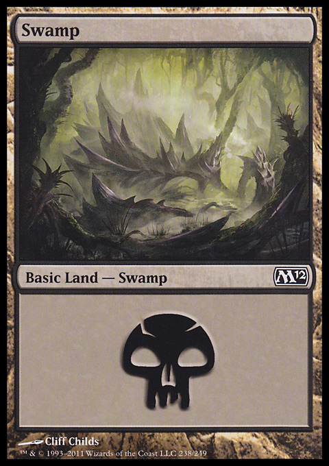 Swamp (238)  card from Magic 2012