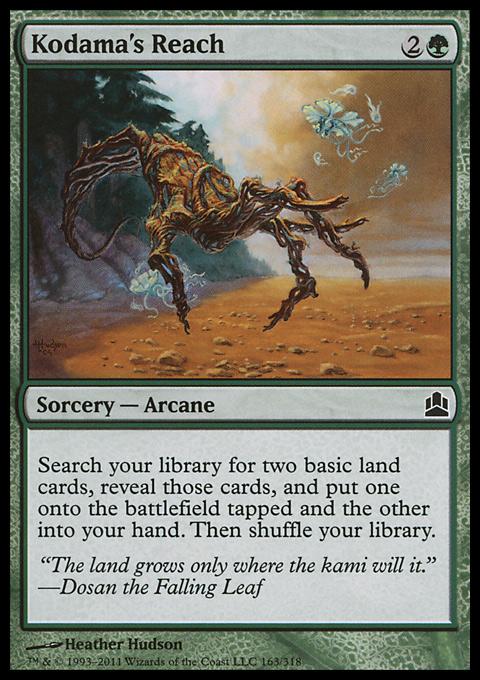 Kodama's Reach card from Magic: The Gathering-Commander