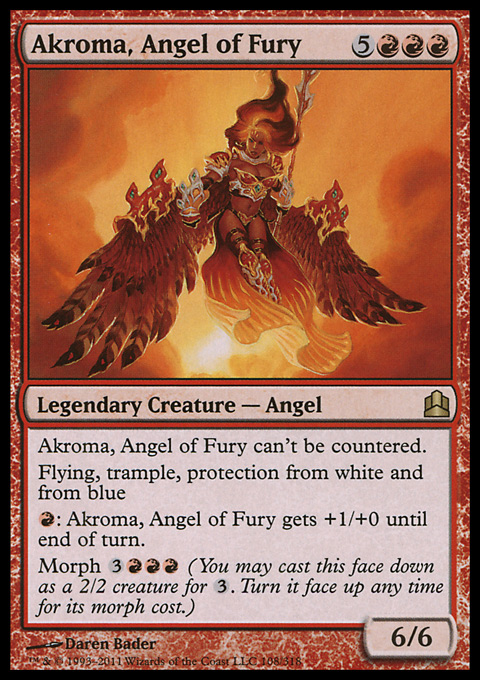 Akroma, Angel of Fury card from Magic: The Gathering-Commander