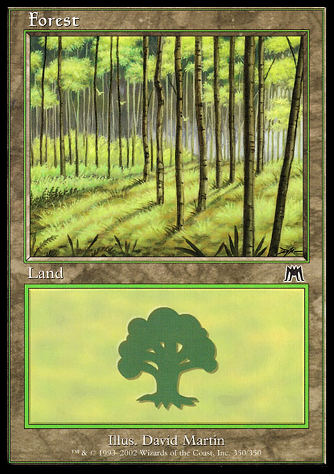 Forest (350) card from Onslaught