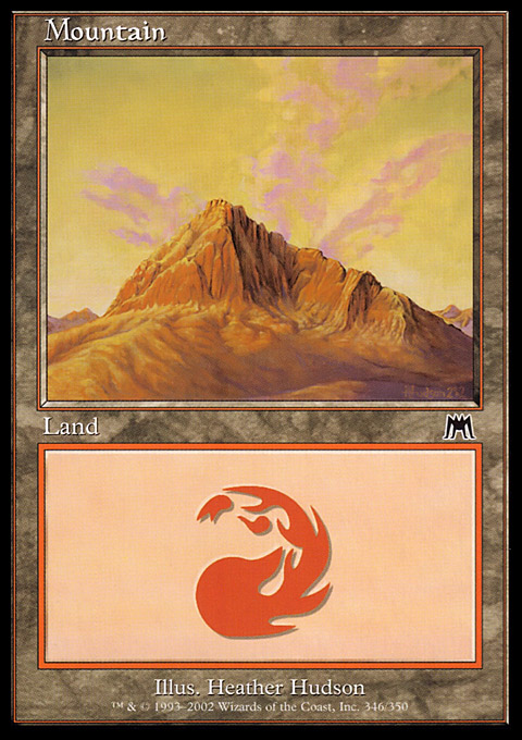 Mountain (346) card from Onslaught