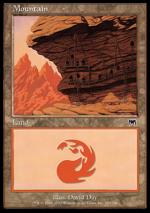 Mountain (345) card from Onslaught