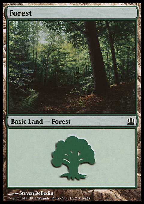 Forest (316)  card from Magic: The Gathering-Commander