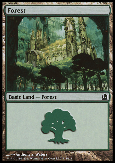 Forest (318)  card from Magic: The Gathering-Commander