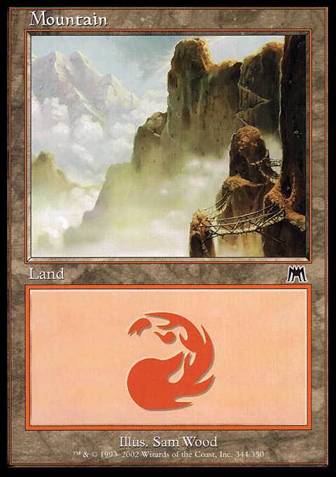Mountain (344) card from Onslaught