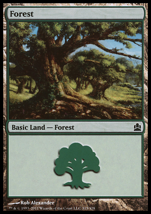 Forest (315)  card from Magic: The Gathering-Commander