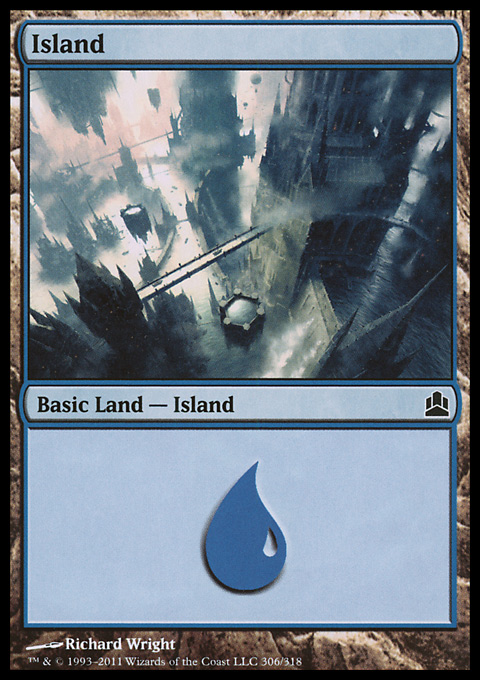 Island (306)  card from Magic: The Gathering-Commander