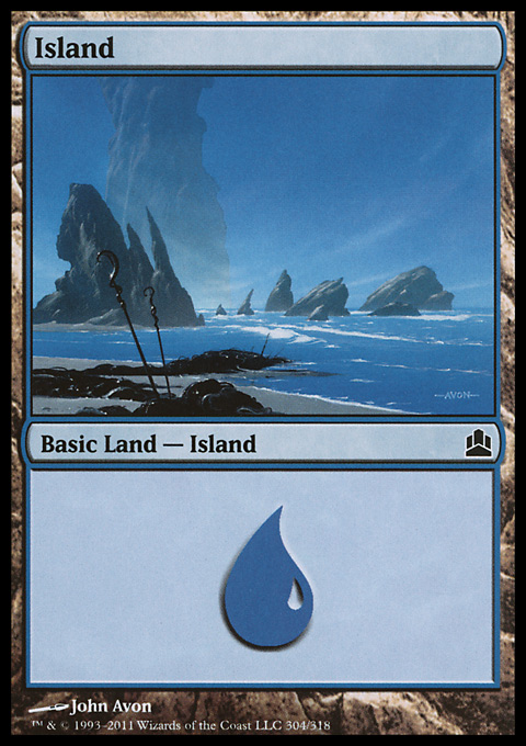Island (304)  card from Magic: The Gathering-Commander
