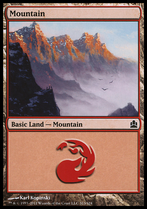 Mountain (313)  card from Magic: The Gathering-Commander