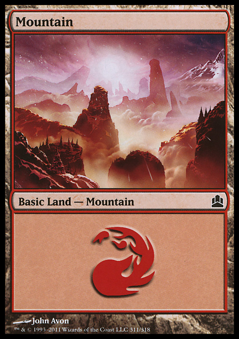Mountain (311)  card from Magic: The Gathering-Commander
