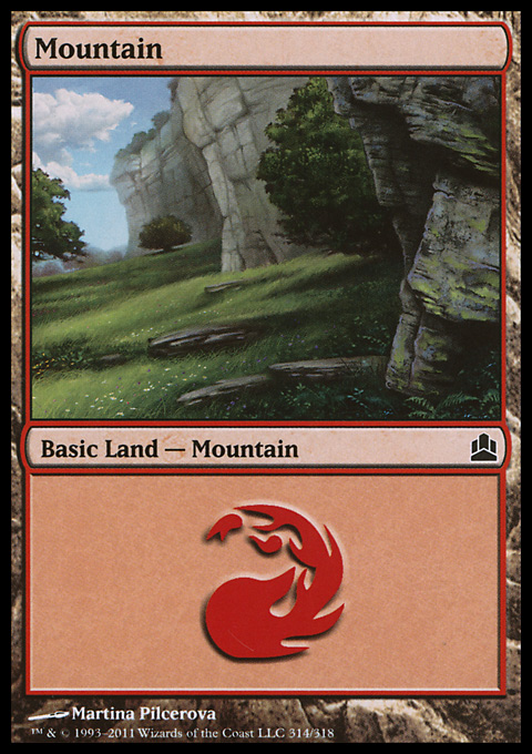 Mountain (314)  card from Magic: The Gathering-Commander