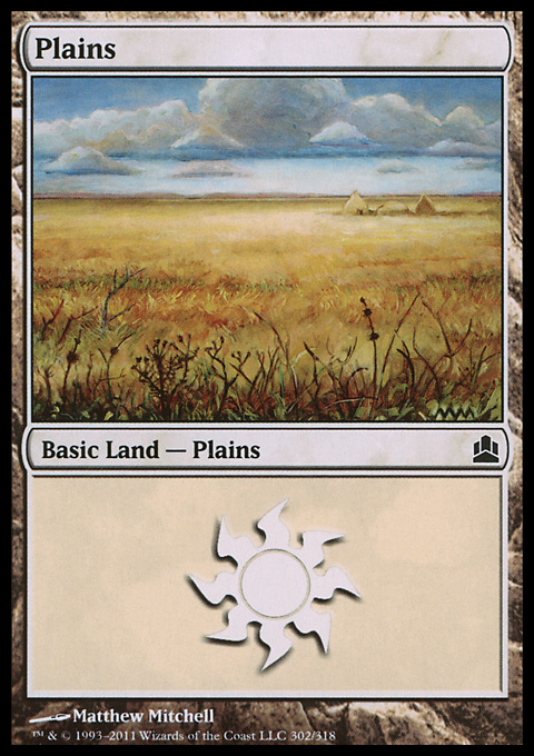 Plains (302)  card from Magic: The Gathering-Commander