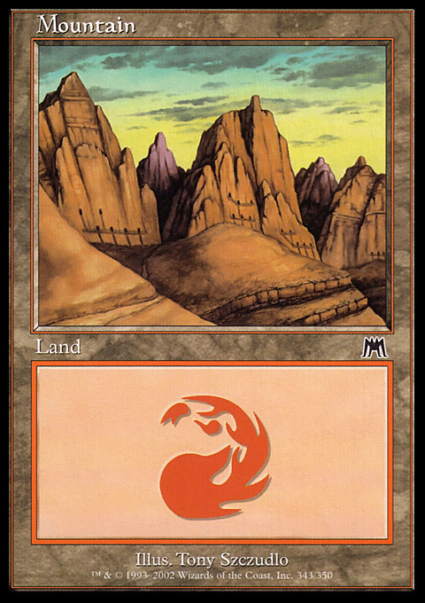 Mountain (343) card from Onslaught