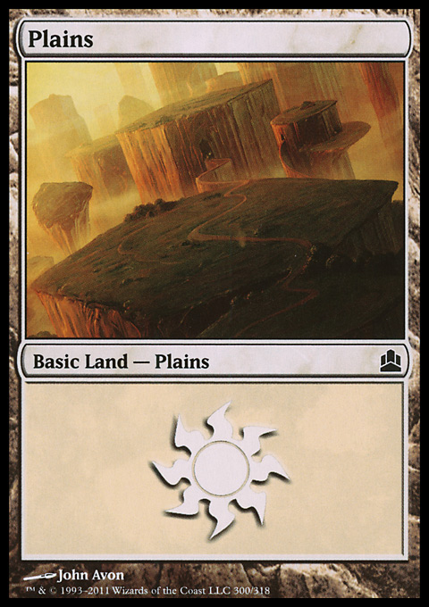 Plains (300)  card from Magic: The Gathering-Commander