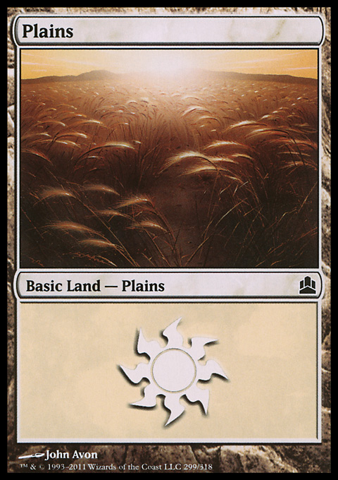 Plains (299)  card from Magic: The Gathering-Commander