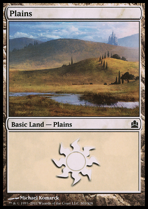 Plains (301)  card from Magic: The Gathering-Commander