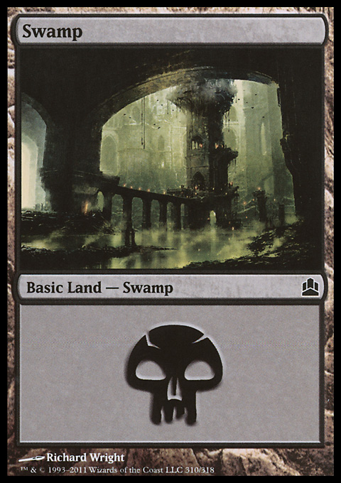 Swamp (310)  card from Magic: The Gathering-Commander