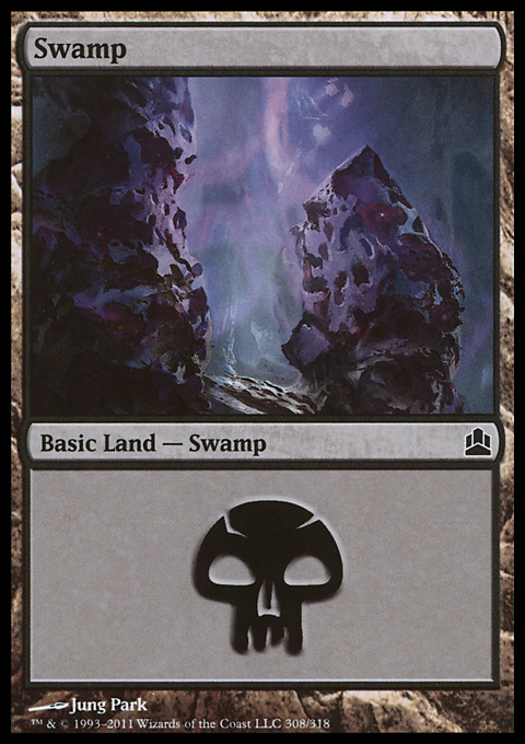 Swamp (308)  card from Magic: The Gathering-Commander