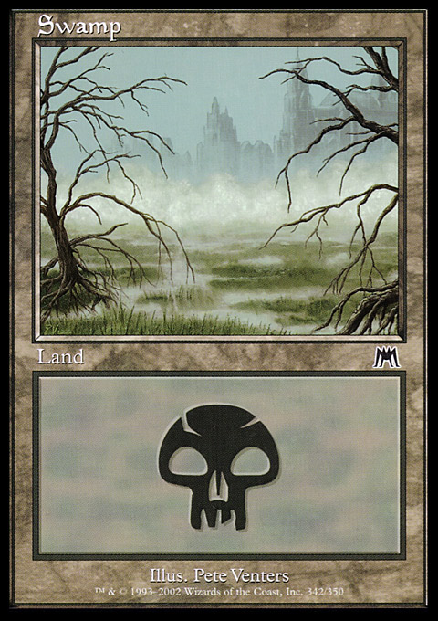 Swamp (342) card from Onslaught