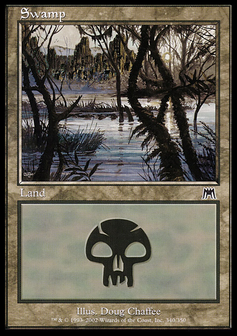 Swamp (340) card from Onslaught