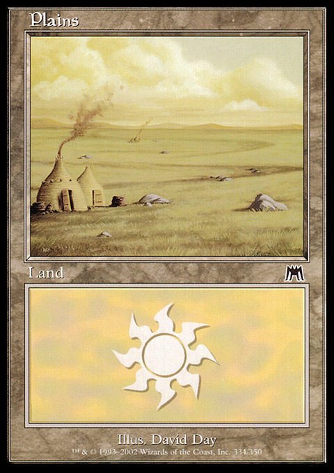 Plains (334) card from Onslaught