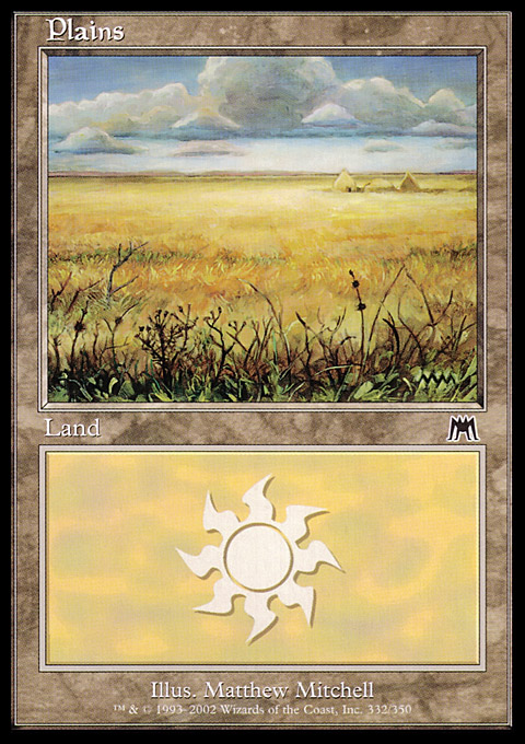 Plains (332) card from Onslaught