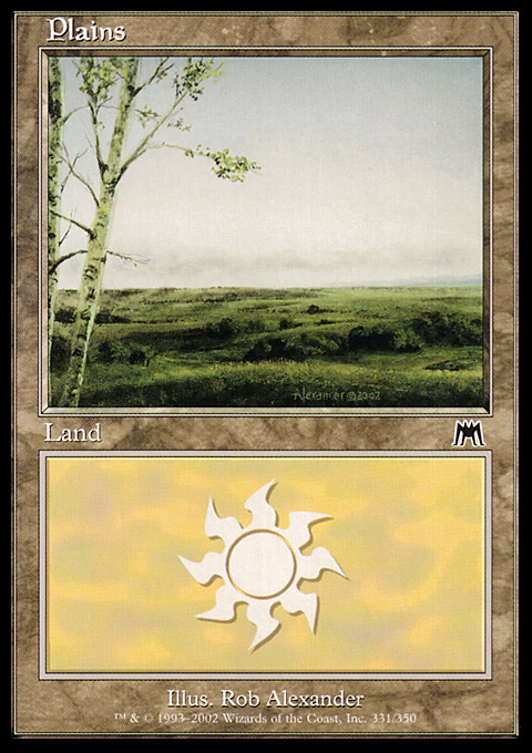 Plains (331) card from Onslaught