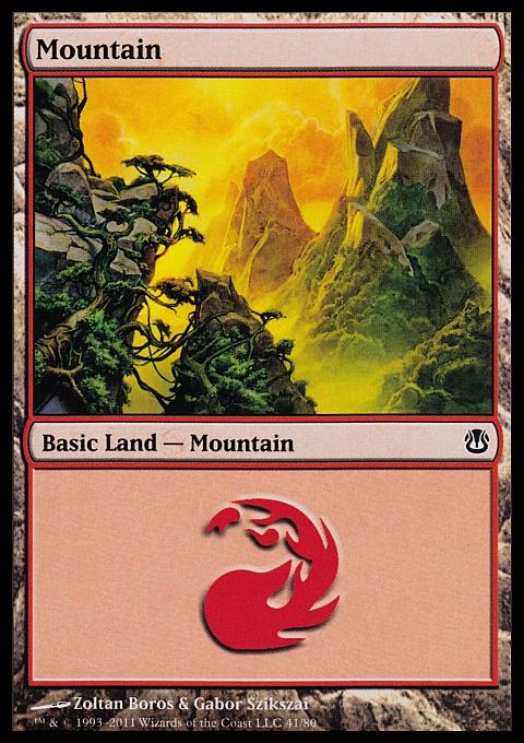 Mountain (41) card from Duel Decks: Ajani vs. Nicol Bolas