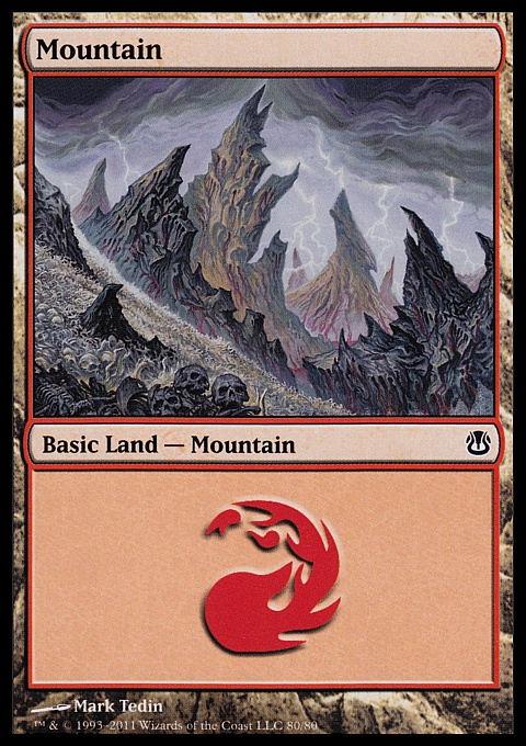 Mountain (80) card from Duel Decks: Ajani vs. Nicol Bolas