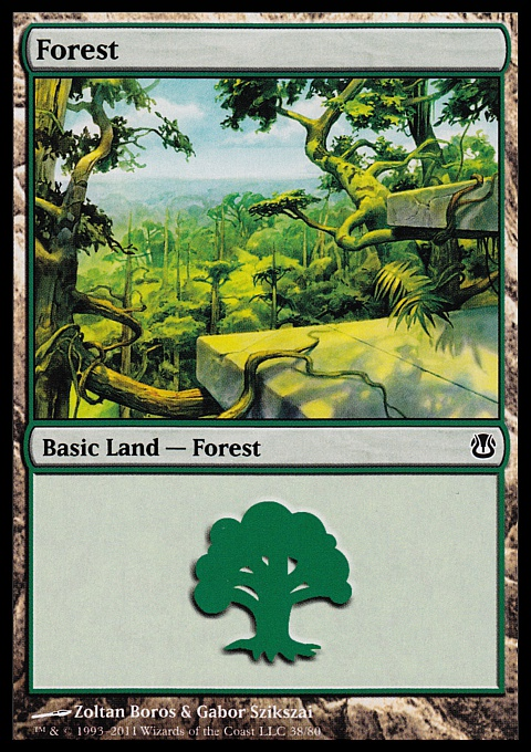 Forest (38) card from Duel Decks: Ajani vs. Nicol Bolas