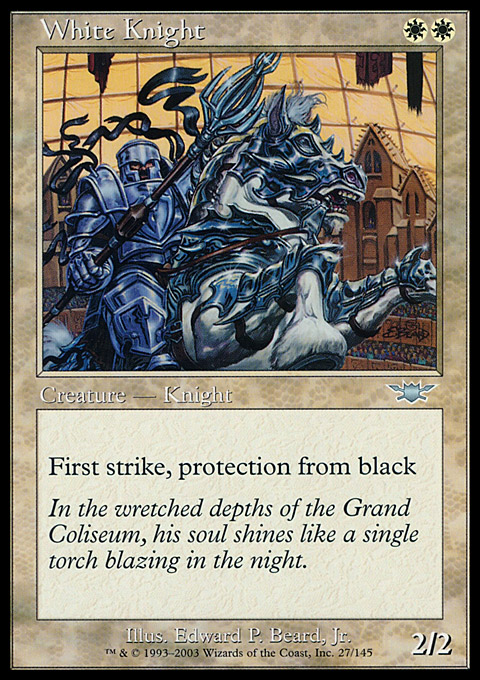 White Knight card from Legions