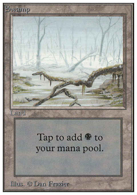 Swamp (A) card from Unlimited Edition