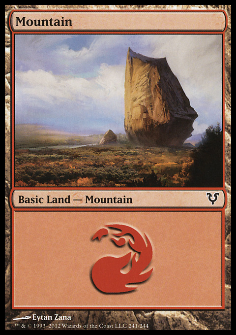 Mountain (241)  card from Avacyn Restored