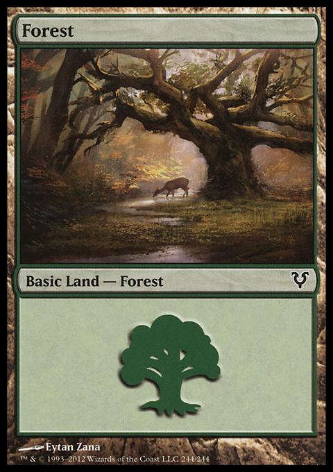 Forest (244) card from Avacyn Restored