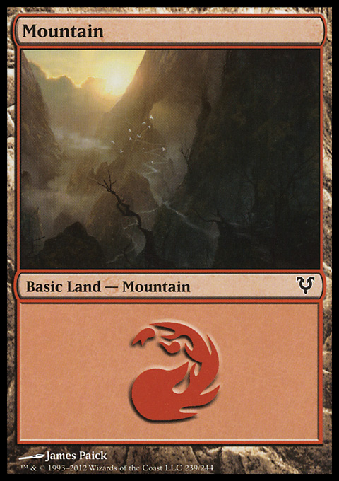 Mountain (239)  card from Avacyn Restored