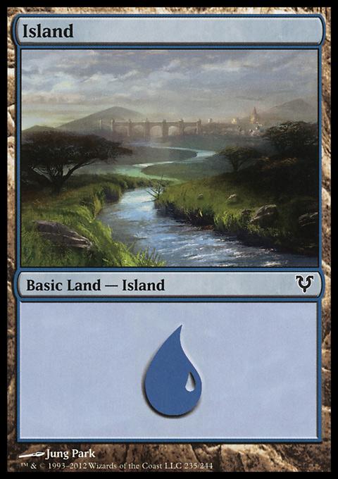 Island (235)  card from Avacyn Restored