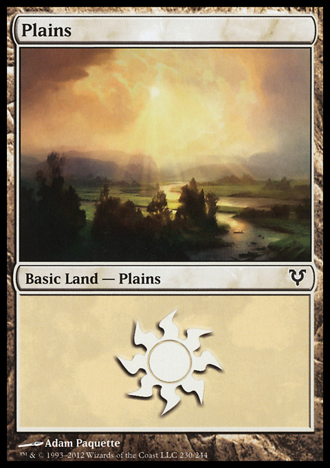 Plains (230)  card from Avacyn Restored