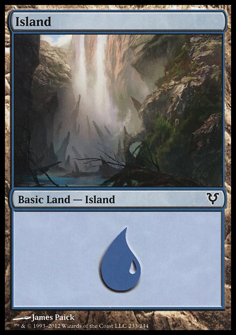 Island (233)  card from Avacyn Restored