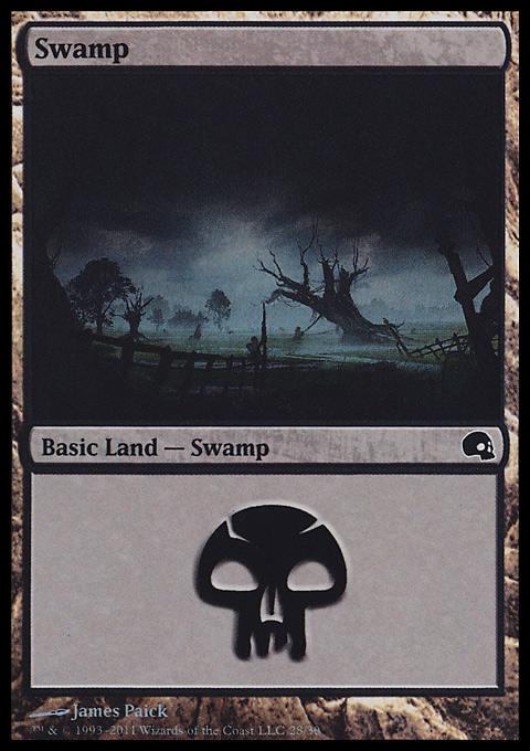 Swamp (28)  card from Premium Deck Series: Graveborn