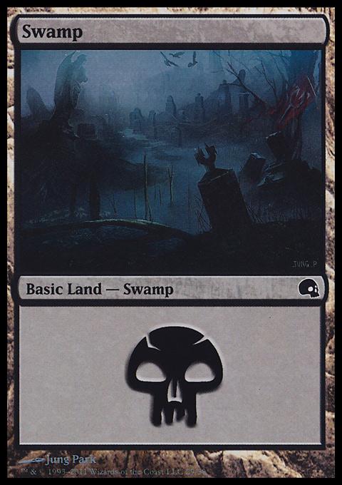 Swamp (29)  card from Premium Deck Series: Graveborn