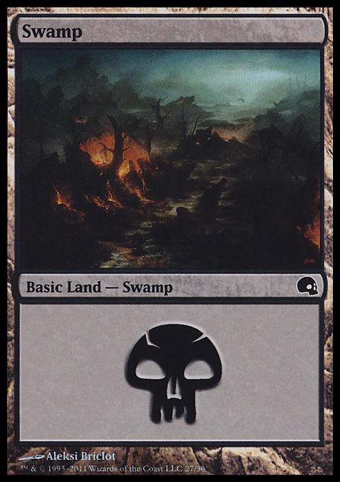 Swamp (27)  card from Premium Deck Series: Graveborn