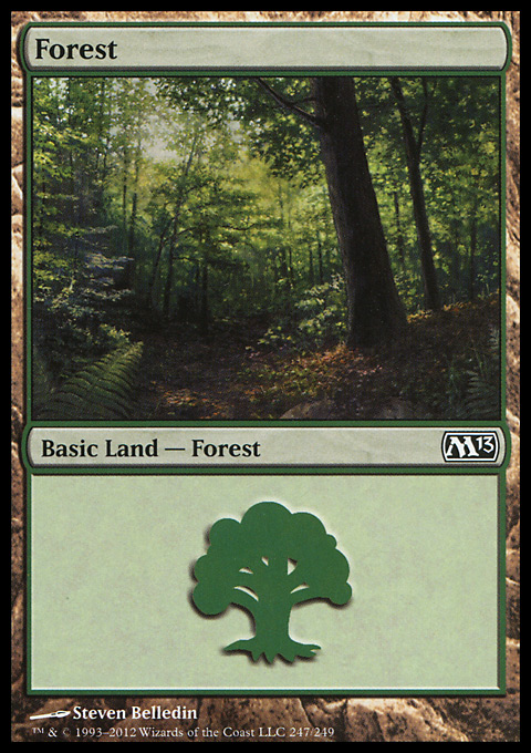 Forest (247)  card from Magic 2013