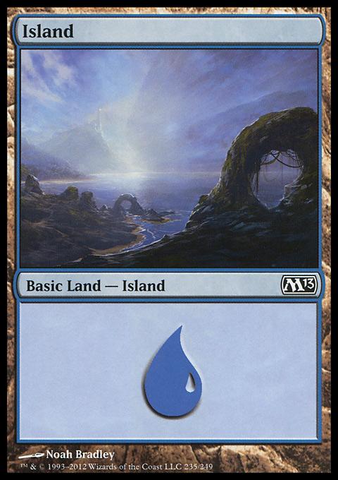 Island (235)  card from Magic 2013