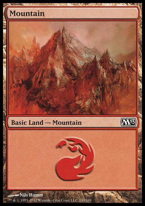 Mountain (243)  card from Magic 2013