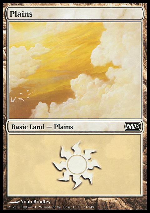 Plains (231)  card from Magic 2013