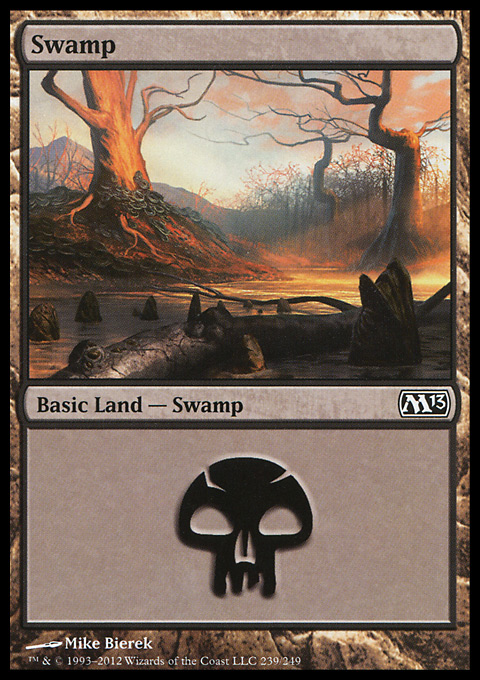 Swamp (239)  card from Magic 2013