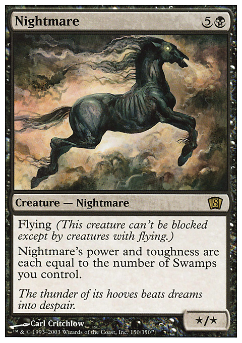 Nightmare card from Eighth Edition