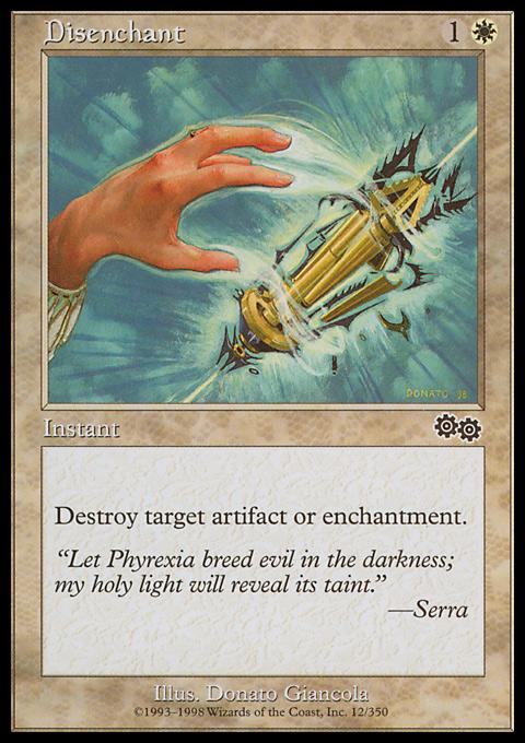 Disenchant card from Urza's Saga